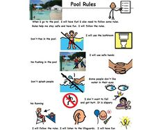 Swimming lessons board maker share visual aids pinterest swim lessons and social stories for Can you get hiv from a swimming pool