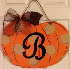 Personalized Pumpkin Door Decor in MDF