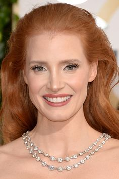 Jessica Chastain at the 2014 Golden Globe Awards: http://beautyeditor.ca/2014/01/12/golden-globes-2014/