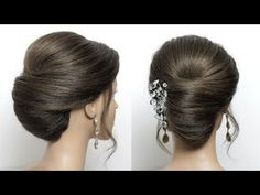 Quick Updo For Medium Long Length Hair – Hair Tutorials Easy Updo Hairstyles, Wedding Hairstyles Tutorial, Elegant Hairstyles, Bridal Hairstyles, Hairstyles Videos, Medium Long Hair, Medium Hair Styles, Short Hair Styles, Bun Styles