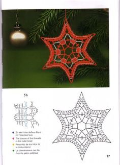 Crochet Butterfly, Crochet Lace, Holiday Ornaments, Christmas Crafts, Doily Art, Bobbin Lacemaking, Bobbin Lace Patterns, Lace Heart, Lace Jewelry