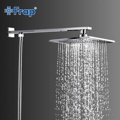 Best Price FRAP Hot Selling ABS shower head with stainless steel arm top water saving Overhead rain shower Shower Arm, Rain Shower, Cheap Baths, Rainfall Shower, Flat Ideas, Save Water, Bathroom Fixtures, Shower Heads, Luxury Homes