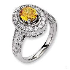 14kw Emma Grace Oval Cultured Diamond Ring.  $14,599.24