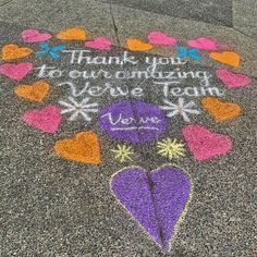 The beautiful chalk art outside Courtyard Gardens Retirement Residence in Richmond showing appreciation to our residents! 😄 #vervecares #community #staysafe #appreciation Senior Living Communities, Wellness Activities, Courtyard Gardens, Emergency Response, Chalk Art, Retirement, Appreciation, Vibrant, Kids Rugs