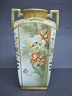 HAND PAINTED NIPPON VASE - ANTIQUE