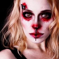 Bloody Butterfly by - mel et fel Halloween Outfits, Halloween Look, Halloween Ideas, Halloween Face Makeup, Face Charts, Lipgloss, Scary, Butterfly, How To Make