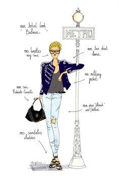 Do it in Paris - Balmain by Angeline Melin #fashion #illustration #Paris
