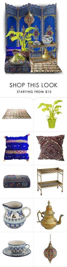 """""""Oasis"""" by heather-reaves ❤ liked on Polyvore featuring interior, interiors, interior design, home, home decor, interior decorating, Wandschappen, Jayson Home, Bunzlau Castle and The Moroccan Room"""