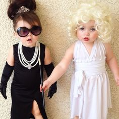 Audrey and Marilyn  sc 1 st  Pinterest & Marilyn Monroe and Audrey Hepburn... Best kidu0027s Halloween costumes ...