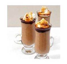 Coffee Cappuccino Creams with Sweet Coffee Sauce