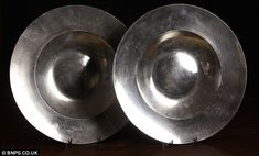 Large bossed pewter dishes recovered from the Punta Cana shipwreck. Frozen In Time, Antique Pewter, Pottery, Punta Cana, Dominican Republic, 15th Century, Shakespeare, Tableware, Lantern