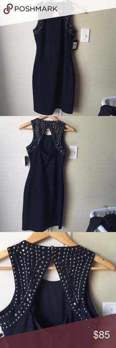Navy Guess Dress Perfect New Years Dress! BNWT. SIZE 10 Guess Dresses Backless