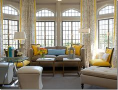 I'm not usually a fan of yellow...but when paired with light blue and tan...something magic happens I guess...