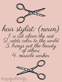 Hair Stylist Definition Salon Art Gifts for Her #PowerfulQuotes