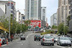 Kings Cross, Sydney Australia  The famous Coca-Cola sign.  Large and in charge.