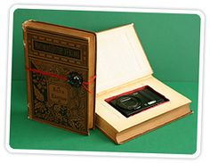 Go to the used book store/consignment store and buy a cool looking book.  Turn it into a top secret box.
