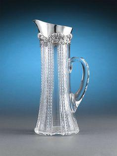 Tiffany & Co. Silver and Cut Glass Pitcher Circa 1900 ~ M.S. Rau Antiques