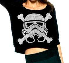 Stormtrooper and Crossbones - Cropped Star Wars Sweatshirt - Made to Order XS - XXL. $40.00, via Etsy.