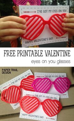 Free Printable DIY Glasses Valentine from Great idea for valentines to give out. Free Printable DIY Glasses Valentine from Great idea for valentines to give out in your kids class Valentines Bricolage, Kinder Valentines, Valentine Gifts For Kids, Valentine Day Crafts, Printable Valentine, Valentine Heart, Valentines From Teachers, Preschool Valentine Ideas, Valentines Ideas For Preschoolers