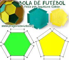 Bola de futebol feita com papel - Moldes | Pra Gente Miúda …