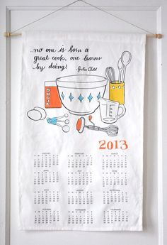 2013 calendar julia child calendar