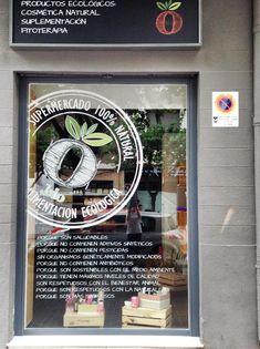 Escaparate - tienda ecologica - Saludable