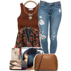 A fashion look from April 2016 featuring cropped shirts, red jacket and low rise jeans. Browse and shop related looks. Swag Outfits For Girls, Teen Girl Outfits, Dope Outfits, Urban Outfits, Fall Outfits, Summer Outfits, School Outfits, Dope Fashion, Fashion Killa
