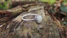 Sterling silver breastmilk or placenta ring, breastmilk jewelry