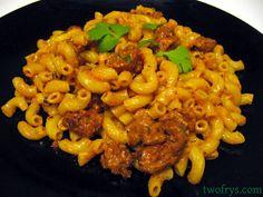 Two Frys: Spicy Chorizo Pasta