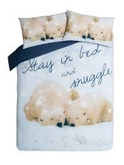 George Home Snuggle Polar Bear Duvet Set