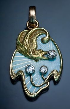 Russian Art Nouveau Guilloche Enamel Pendant | JV