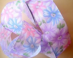 Spring Flowers Wired Ribbon Multicolor 2 1/2 by PrimroseLaceRibbon, $3.25