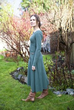 Women and Men's Eco Fashion organic cotton, hemp, bamboo wool eco-friendly and sustainable natural clothing all made in Vancouver BC Canada. Eco Clothing, Natural Clothing, Boat Neck Dress, Summer Styles, Hemp, Organic Cotton, Flow, Fashion Ideas, Winter Fashion