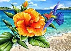 paisajes con pajaros y flores - Buscar con Google