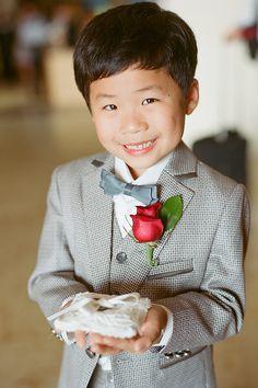An adorable ring bearer! | Kate Headley | Brides.com