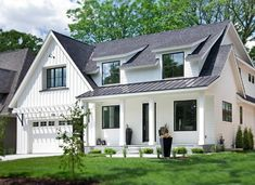 10 White Home Exterior Ideas you'll Swoon Over | Caroline on Design