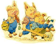 три поросенка, иллюстрации Тони Вулф