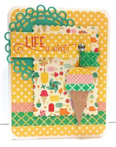 Life is Sweet! washi tape card