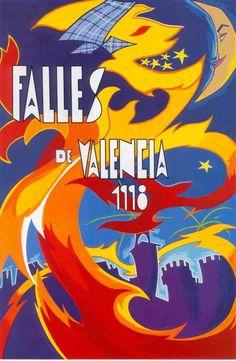 Cartel Fallas Valencia año 1998
