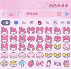 Simbolos Para Nicks, Whatsapp Theme, Melody Hello Kitty, Baby Pink Aesthetic, Phone Themes, Hello Kitty Wallpaper, Sanrio Characters, Cute Icons, Softies