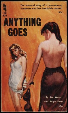 Fabulous covers from the 'Golden Age' of Lesbian pulp fiction 1935-65 The covers often mixed lurid and sensationalist images with suggestive taglines.