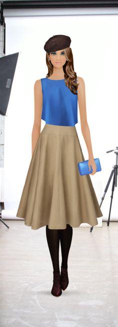 Bi-color: Blue & brown
