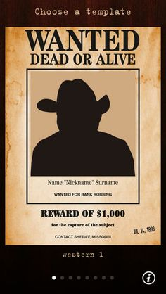 Wanted Poster Pro by Nestor Borgo--so students can make wanted posters for history's villains. Pumpkin Carving Templates Free, Pumpkin Template, Jack Skellington Pumpkin Carving, Wanted Template, Nightmare Before Christmas Pumpkin, Christmas Pumpkins, String Art Templates, Funny Captions, Graphic Design Templates