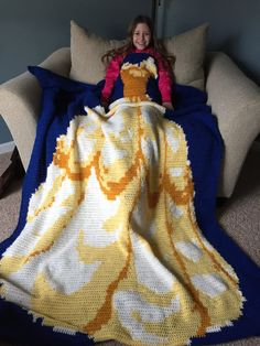 PATTERN: Sleep Like a Princess Belle Style Crochet Blanket