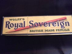 "Closed. Today's Royal Sovereign pencils are foreign made and are not the same company, just the same name.  Please see http://wp.me/p2KOue-Pu for more info.  I own this beautiful box of pencils in the picture.  On the box it says – ""Wolff's Royal Sovereign British Made Pencils"". ""Makers to H.M. Government and the Bank of England"". ""By Special Appointment to His Majesty the King"". They don't make 'em like this anymore."