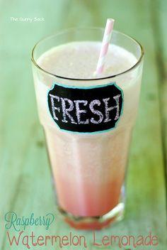 Raspberry Watermelon Lemonade Recipe