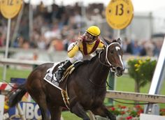 Jockey Calvin Borel rode Rachel Alexandra to victory in the 2009 Preakness States, the first win by a filly in the race since 1924.