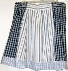 Altered Upcycled skirt made from Men's shirt by UpCDooZ on Etsy, $26.00