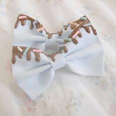 Blue Sprinkles Hair Bow from *・°☆tokkisamaミ☆ on Storenvy