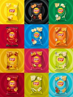 Brand New: New Logo and Packaging for Lay's Food Graphic Design, Food Poster Design, Creative Poster Design, Graphic Design Services, Food Design, Design Ideas, Chip Packaging, Packaging Snack, Food Packaging Design